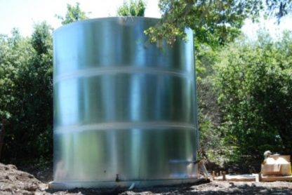 welded steel water storage tank