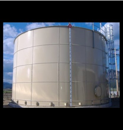 Bolted steel water storage tank