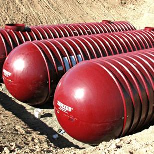 1,500 Gallon Xerxes Underground Fiberglass Non Potable/Waste Water Tank - Diameter 6'-0