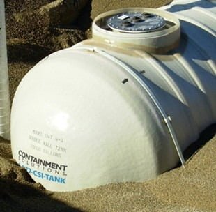 7,000 Gallon Xerxes Underground Fiberglass Non Potable/Waste Water Tank - Diameter 8'-0