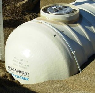 2,000 Gallon Xerxes Underground Fiberglass Potable Water Tank - Diameter 8' -0