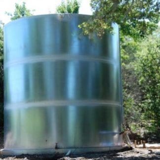 "25,000 Gallon Welded Steel Galvanized Water Storage Tank - Diameter: 13'-7"" Peak Height: 25'-6""-0"