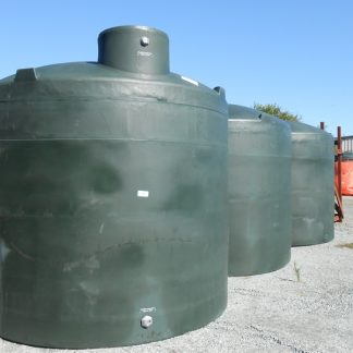 "5,000 Gallon Green Plastic Water Storage Tank 120""D x 114""H-0"