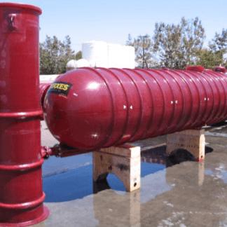 600 Gallon Xerxes Underground Fiberglass Fire Protection Tank – Diameter 4'-0
