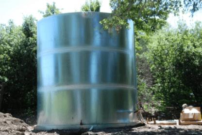 1,000 Gallon Welded Steel Galvanized Water Storage Tank – Diameter: 6'-6'' Peak Height:5'-6''-0