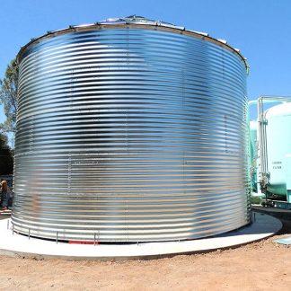 SteelCore Galvanized Water Storage Tank - 2 Stfnrs - J Rib 10 Degree Roof-0