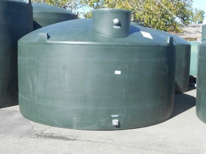 "5,000 Gallon Green Plastic Water Storage Tank 144""D x 87""H-0"