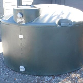 "1,100 Gallon Green Plastic Water Storage Tank 86""D x 53""H-0"