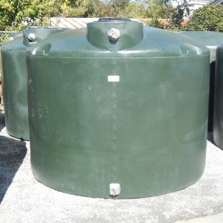 "1,500 Gallon Green Plastic Water Storage Tank 86""D x 70""H-0"