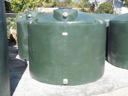 "1,500 Gallon Green Plastic Water Storage Tank 86""D x 70""H-0"